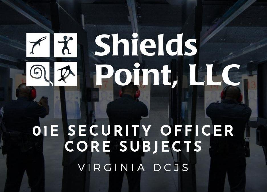 Virginia DCJS 01E Security Core Class